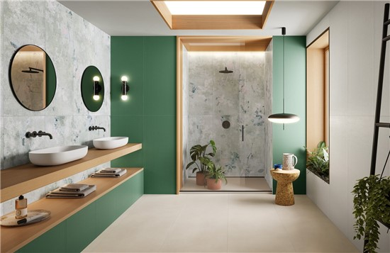 FLORAL στο manetas.net με ποικιλία και τιμές σε πλακακια μπάνιου, κουζίνας, εσωτερικου και εξωτερικού χώρου marcacorona-lilysuitegreen.jpg